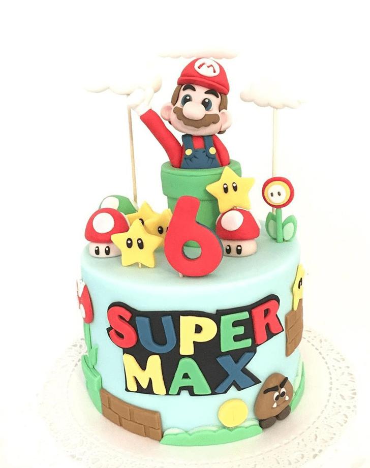 Wonderful Mario Cake Design