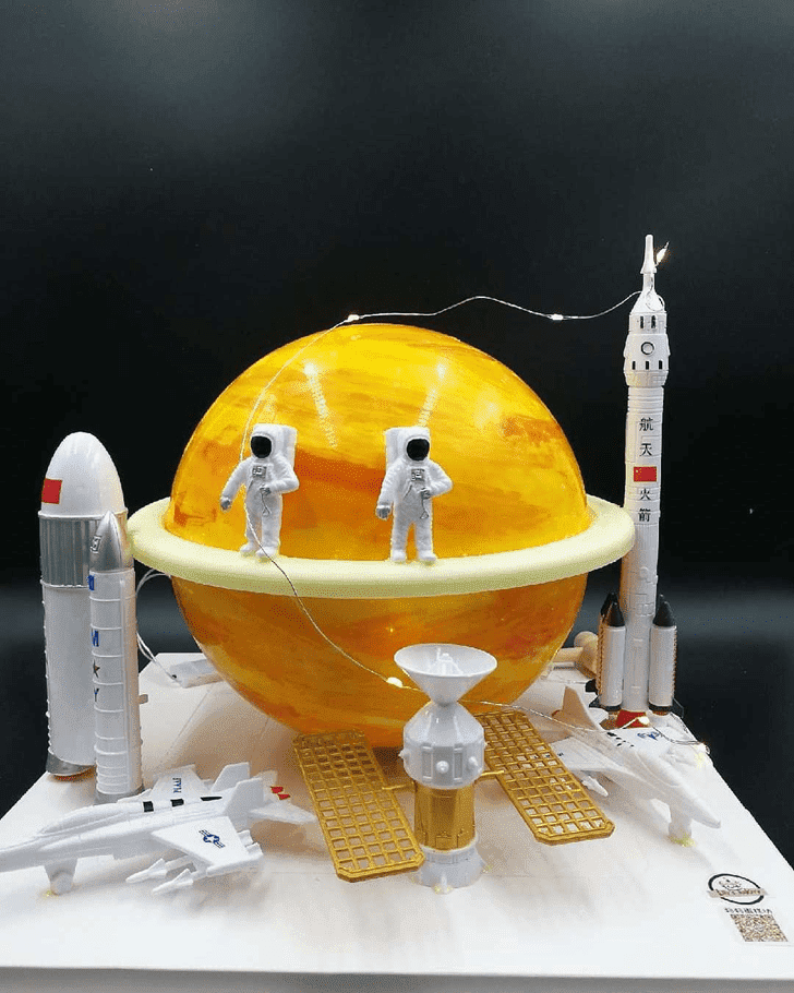 Dazzling Mars Cake