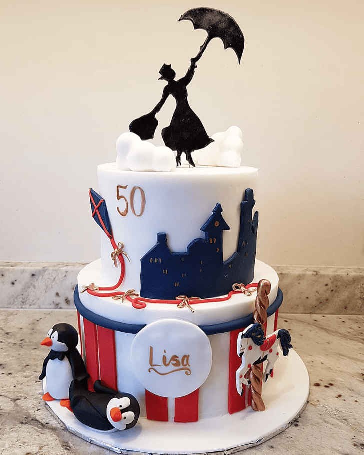 Bewitching Mary Poppins Cake