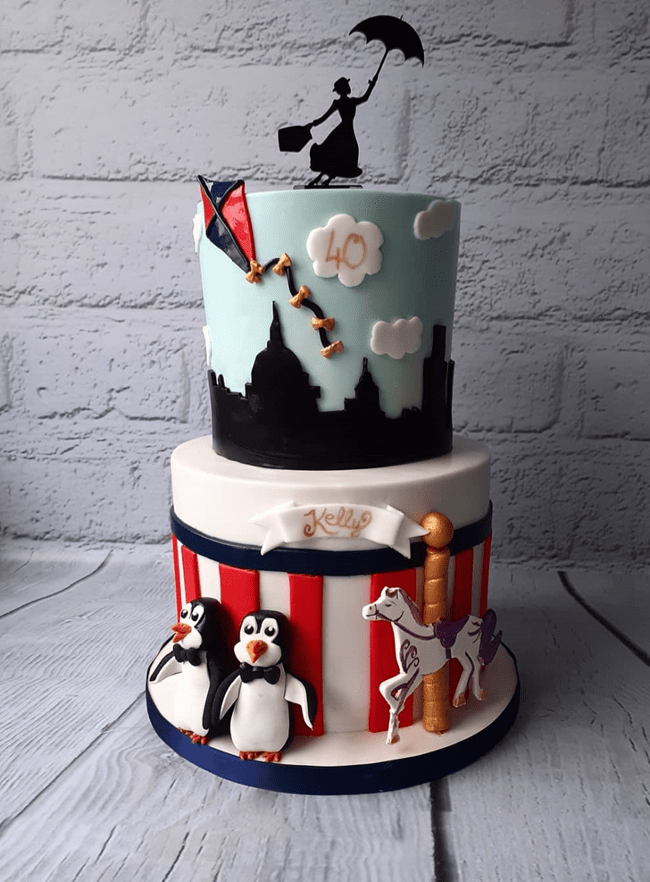 Enticing Mary Poppins Cake