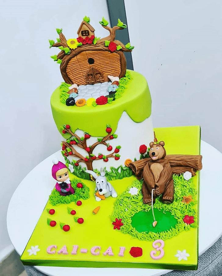 Classy Masha Cake