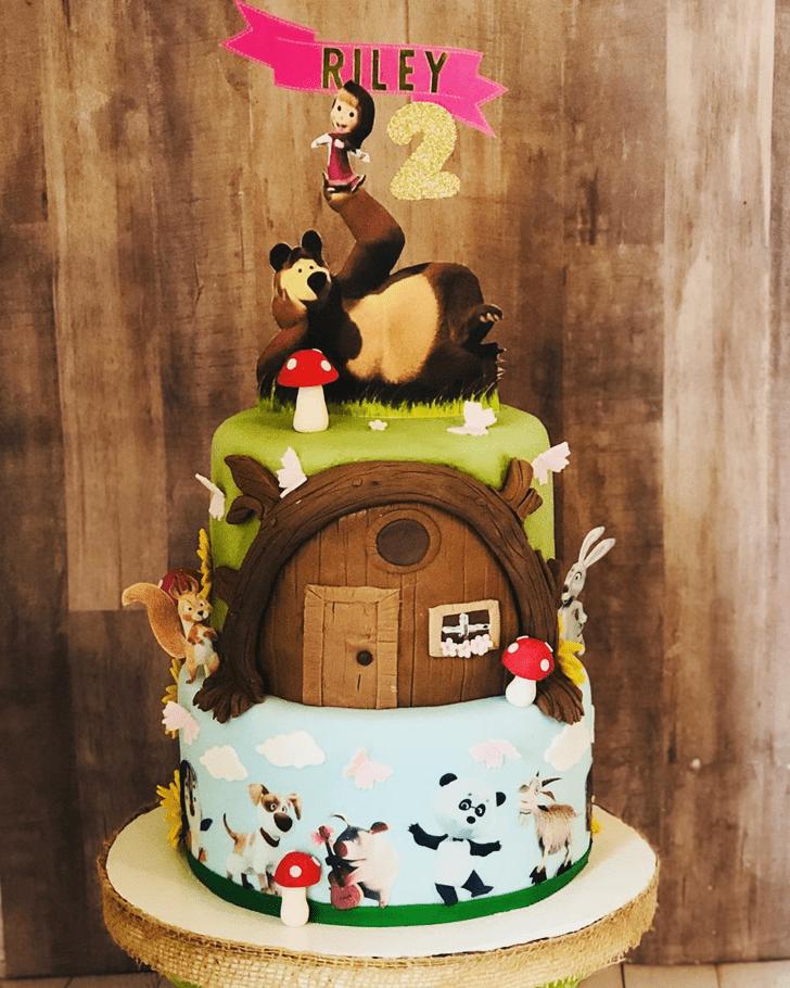 Inviting Masha Cake
