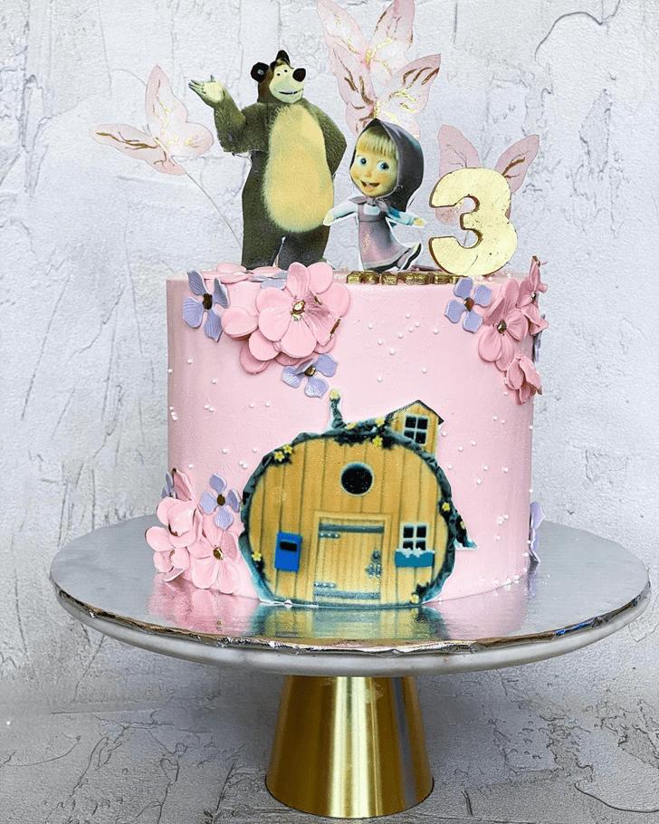 Pleasing Masha Cake