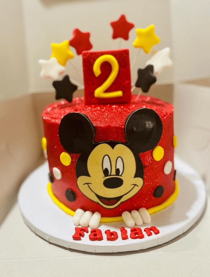 Shapely Micky Mouse Cake