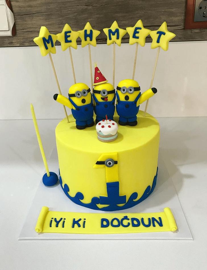 Lovely Minions Cake Design