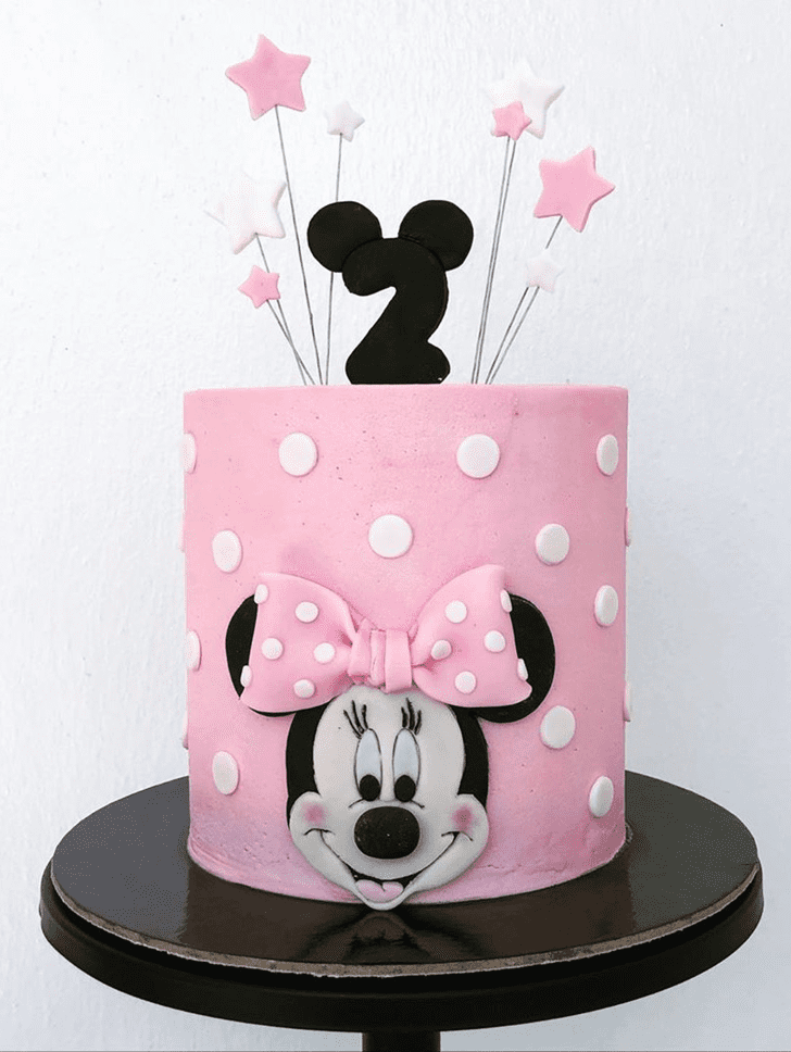Radiant Minnie Mouse Cake