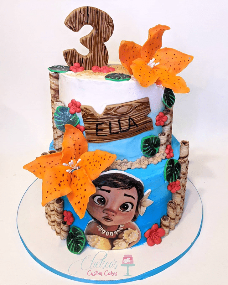 Admirable Moana Cake Design