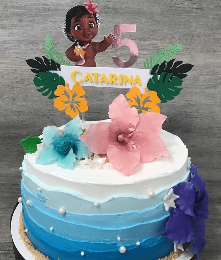 Alluring Moana Cake