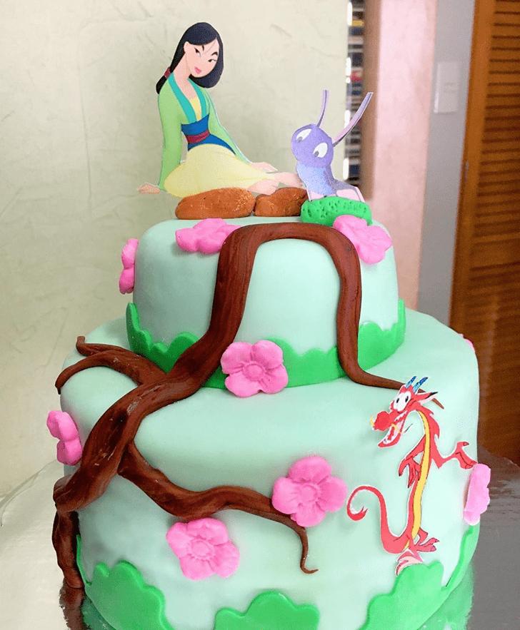 Admirable Mulan Cake Design