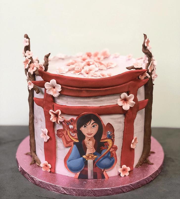 Adorable Mulan Cake