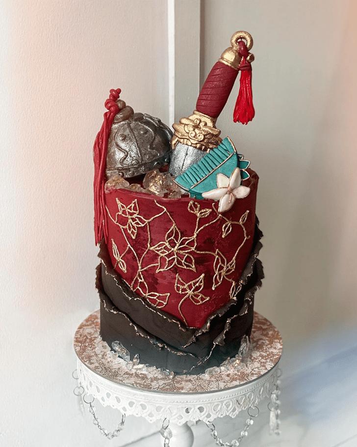 Elegant Mulan Cake