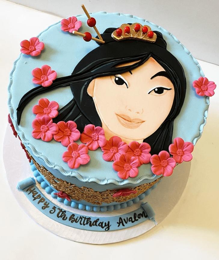 Lovely Mulan Cake Design