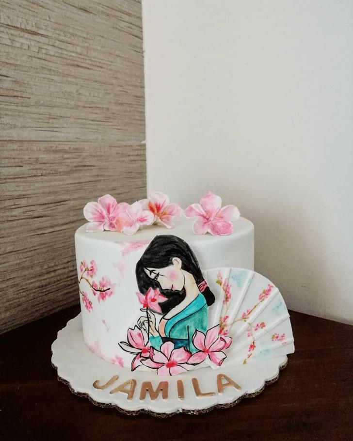 Shapely Mulan Cake