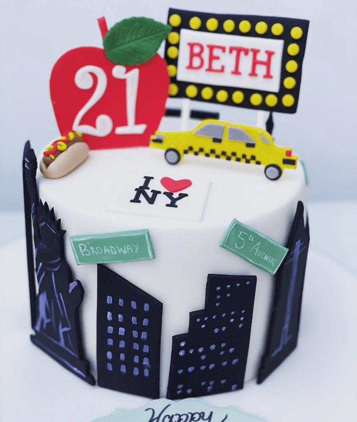 Beauteous New York Cake