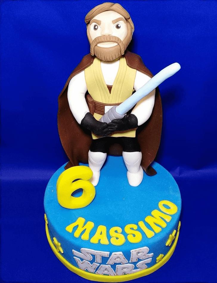 Angelic Obi-Wan Kenobi Cake