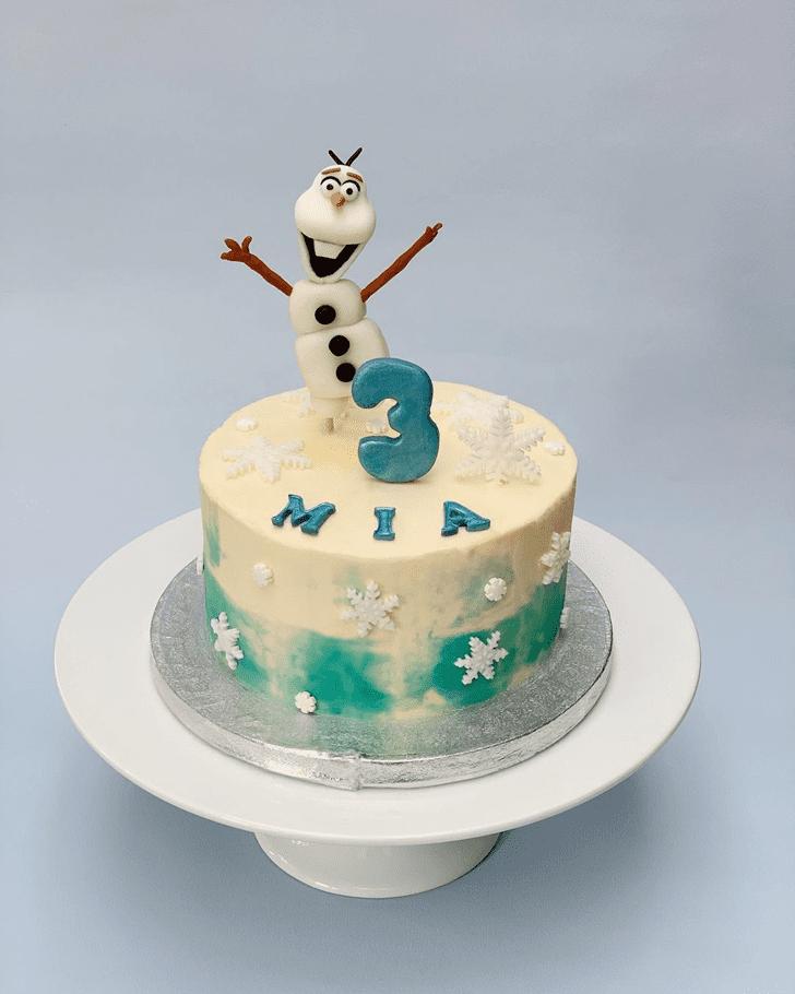 Admirable Olaf Cake Design