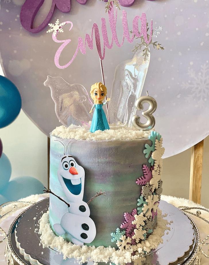 Alluring Olaf Cake