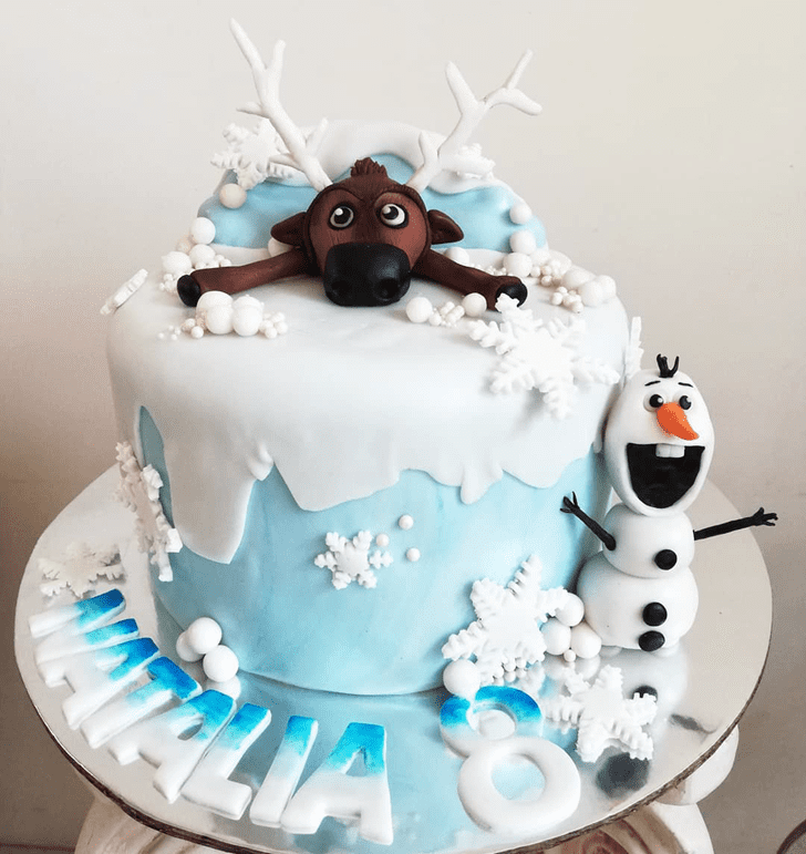 Appealing Olaf Cake