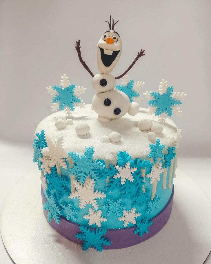 Captivating Olaf Cake