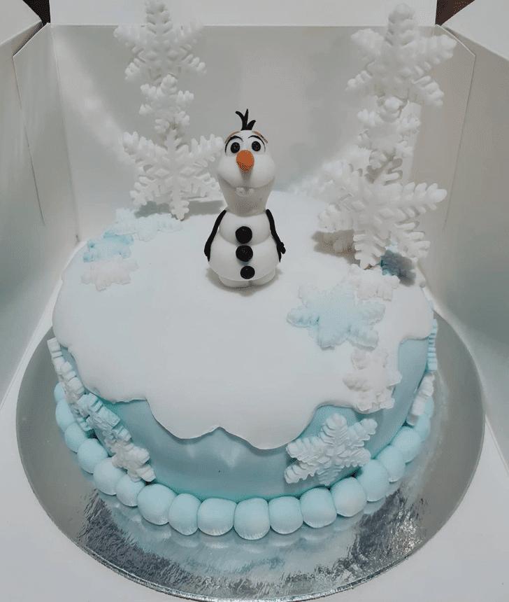Classy Olaf Cake