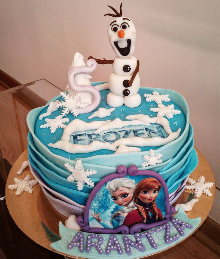 Dazzling Olaf Cake