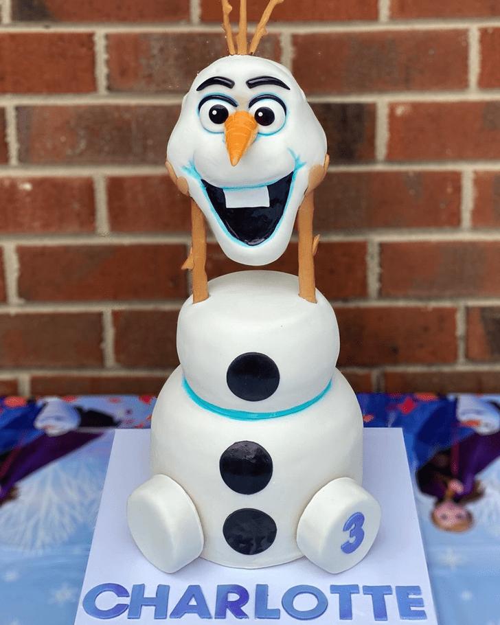 Elegant Olaf Cake