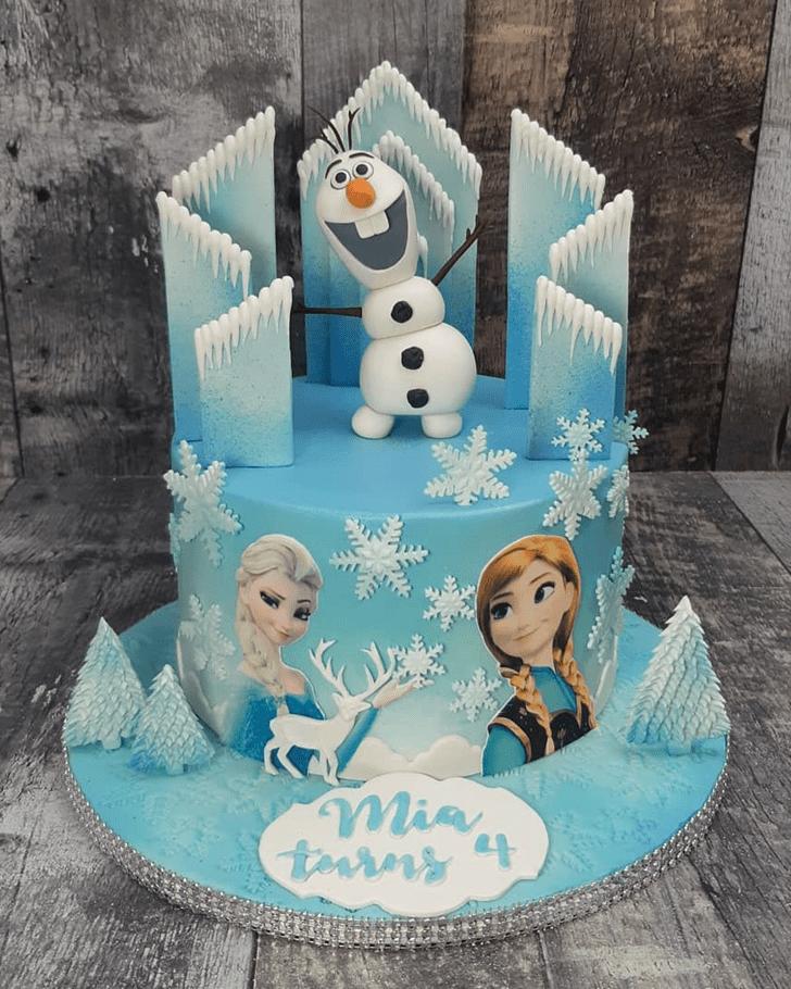Enthralling Olaf Cake