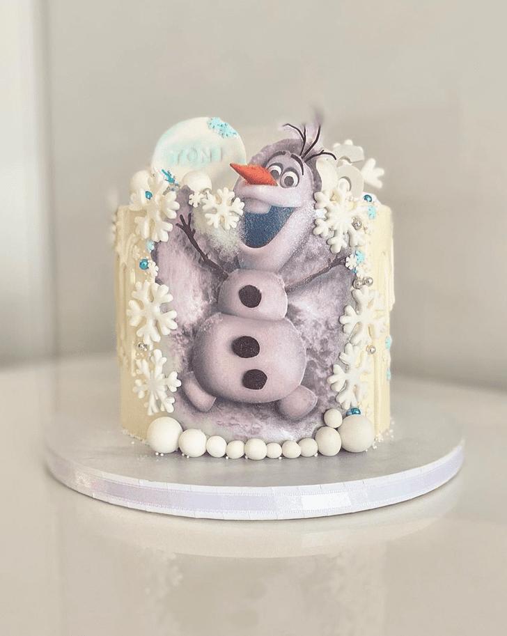 Enticing Olaf Cake
