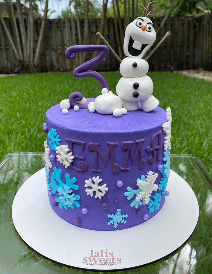 Excellent Olaf Cake