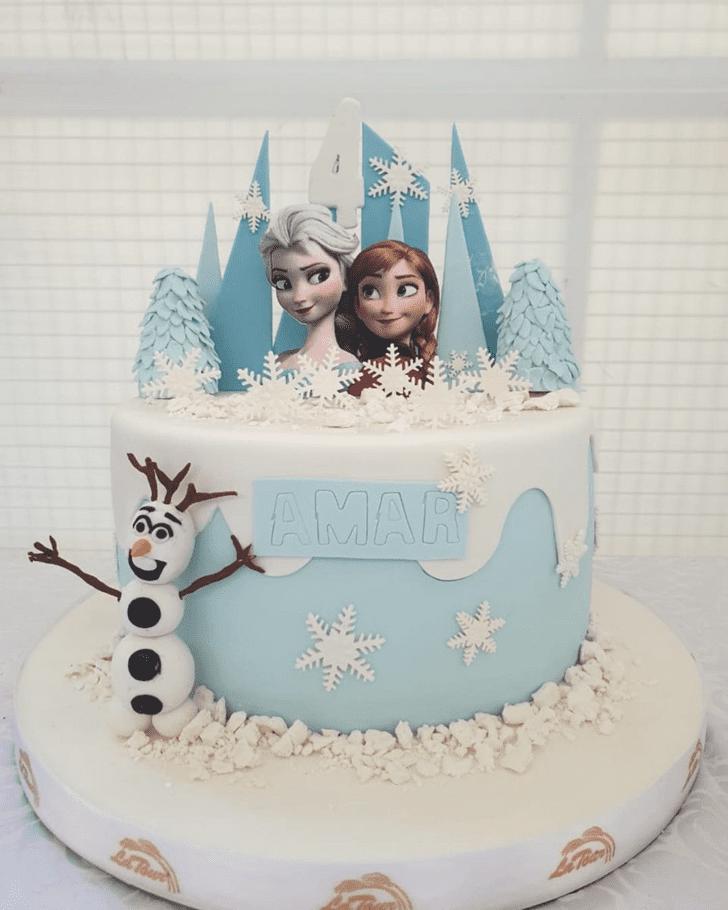 Exquisite Olaf Cake