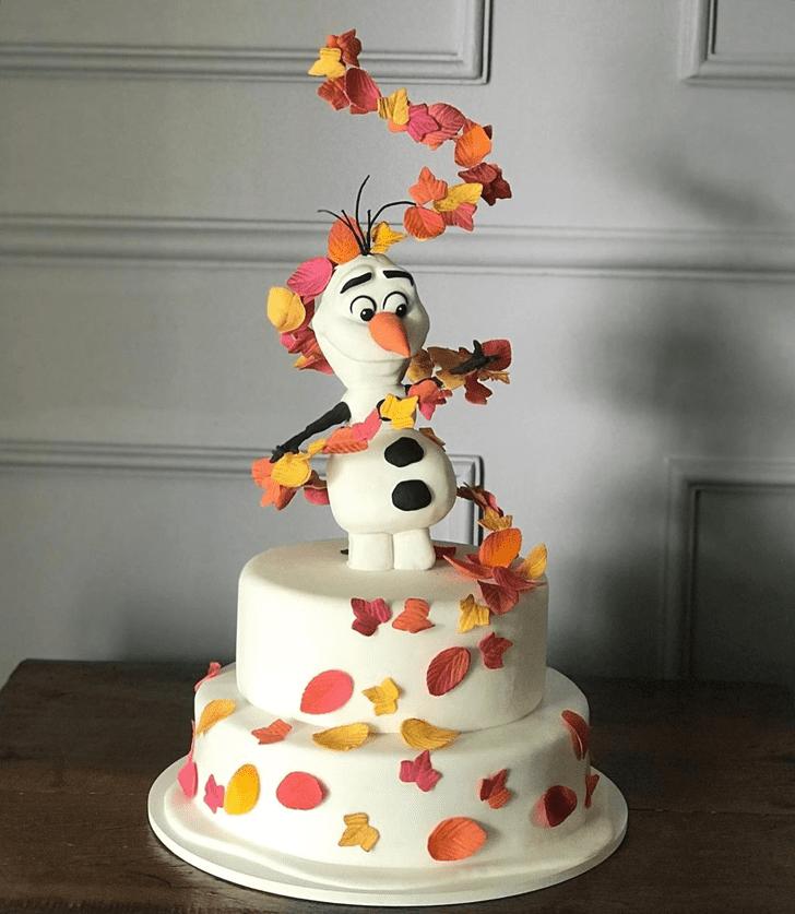 Fetching Olaf Cake