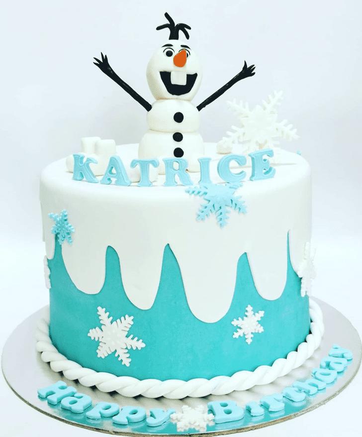 Inviting Olaf Cake