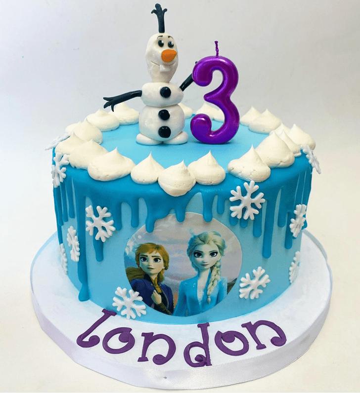Magnetic Olaf Cake