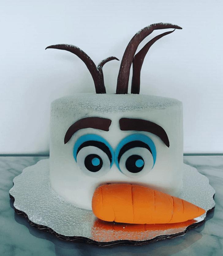 Pleasing Olaf Cake