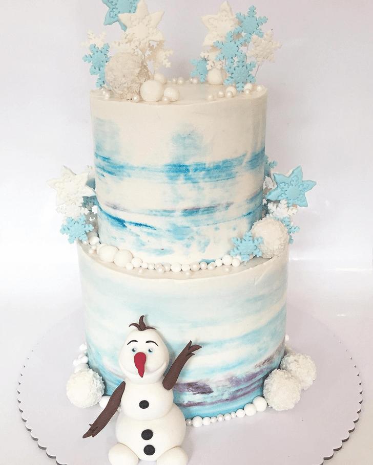 Pretty Olaf Cake