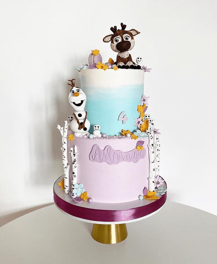 Shapely Olaf Cake