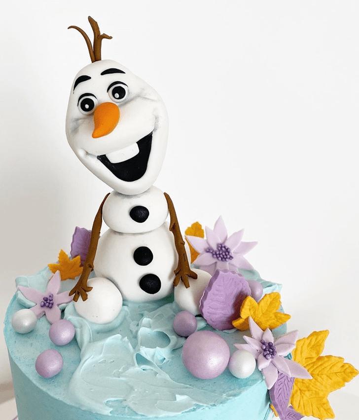 Splendid Olaf Cake