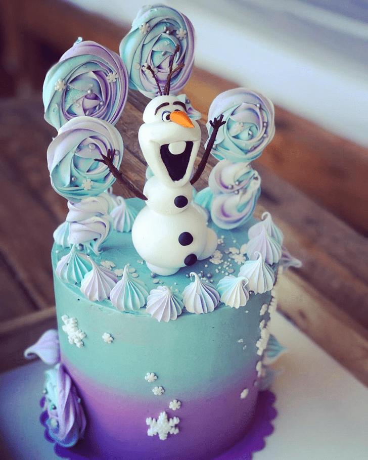 Stunning Olaf Cake