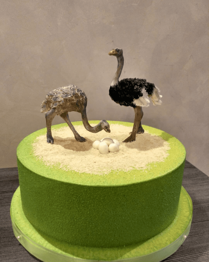 Appealing Ostrich Cake