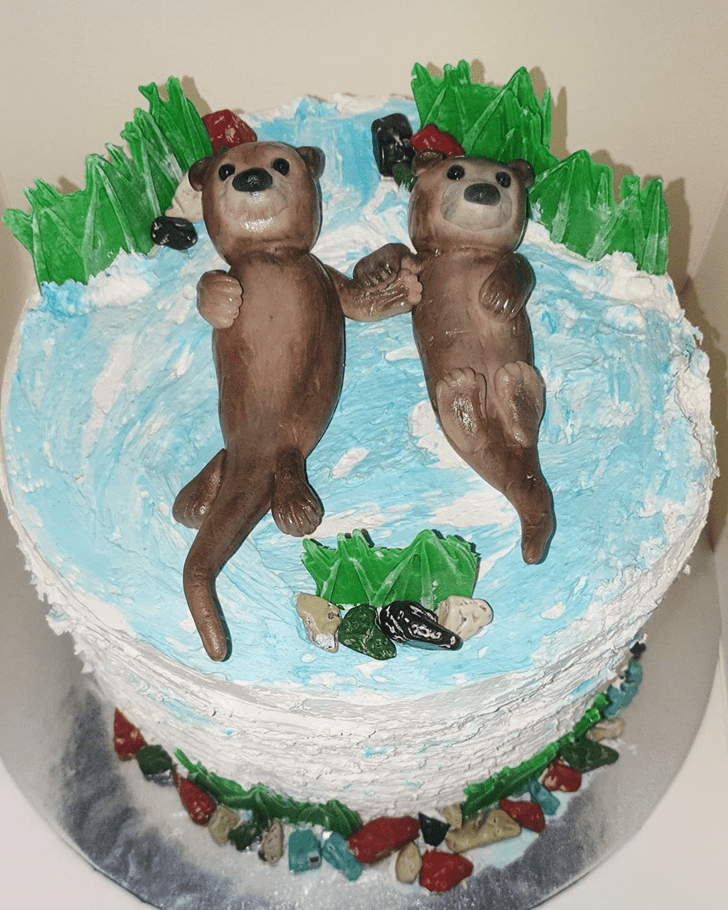 Admirable Otter Cake Design