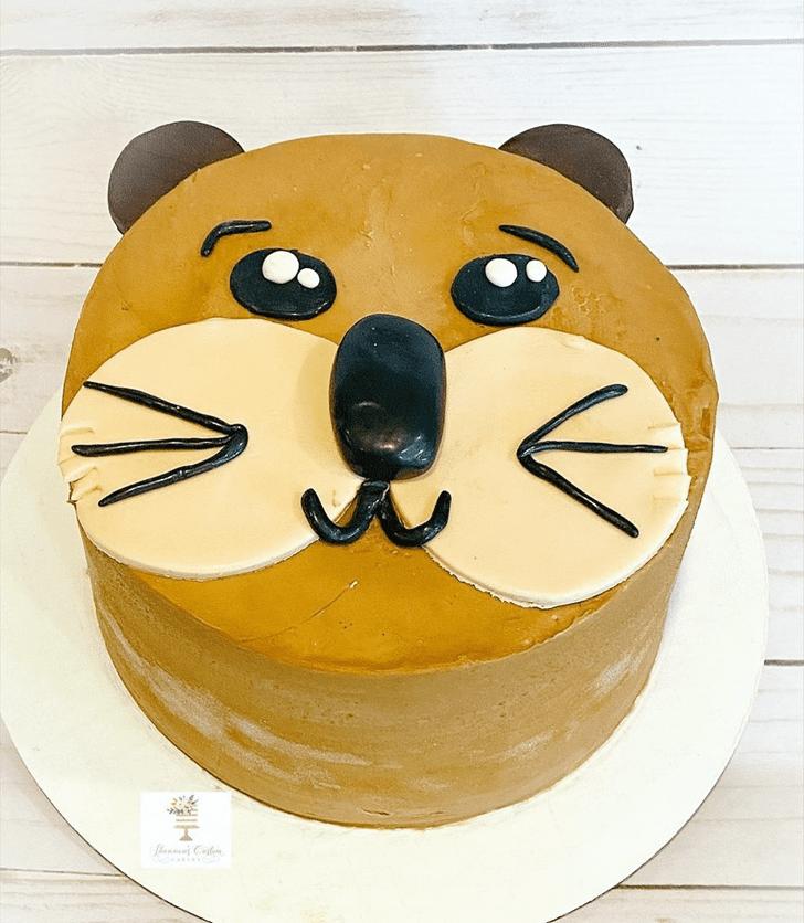 Inviting Otter Cake