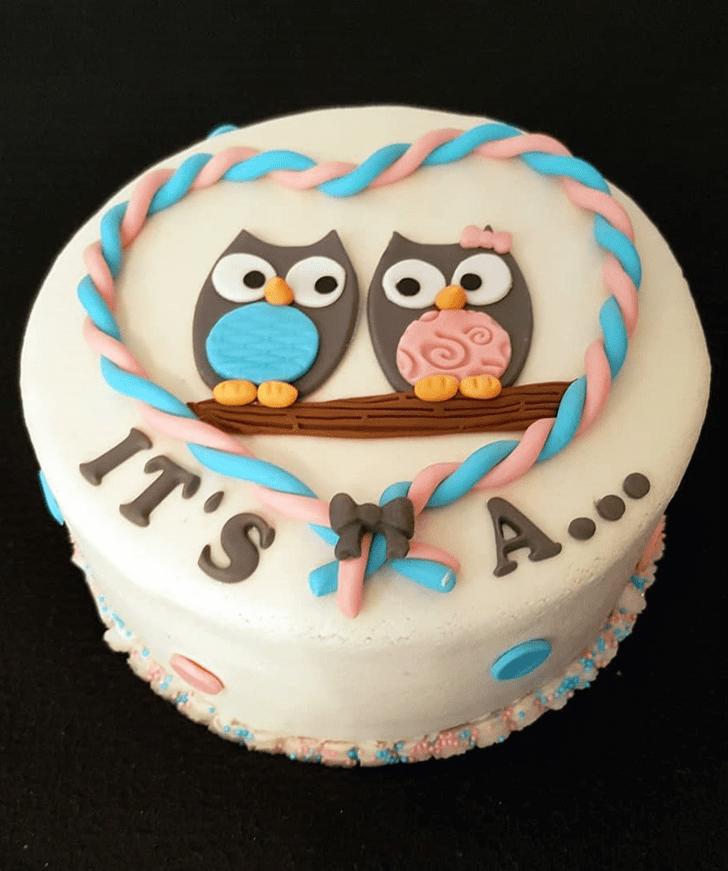 Classy Owl Cake