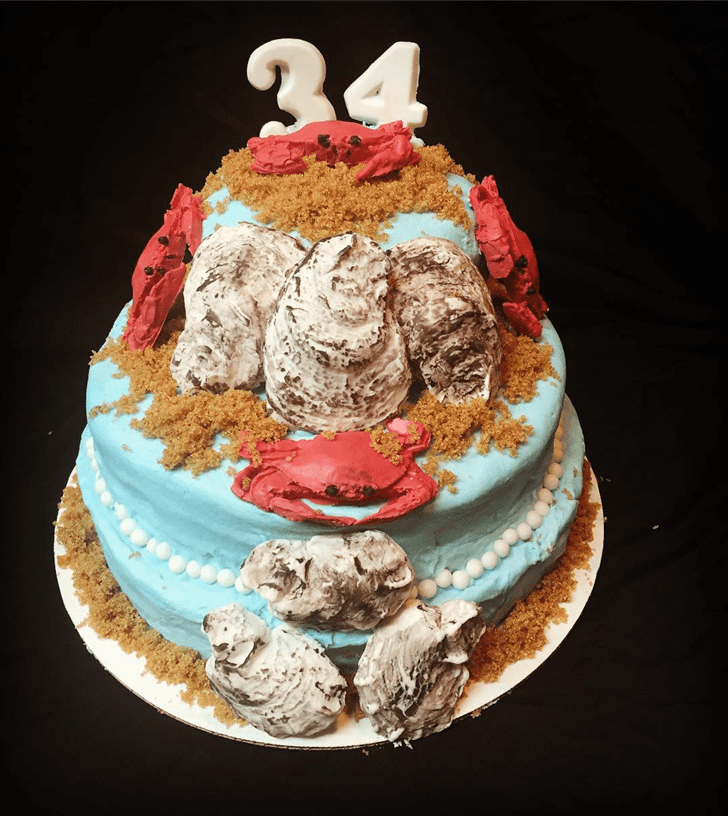Alluring Oyster Cake