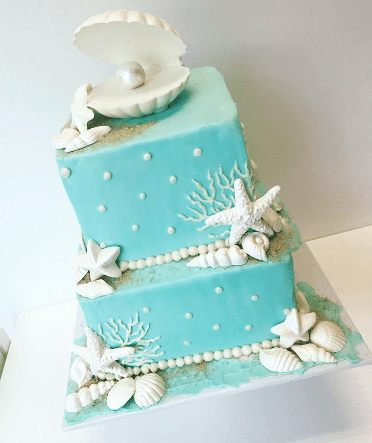 Angelic Oyster Cake
