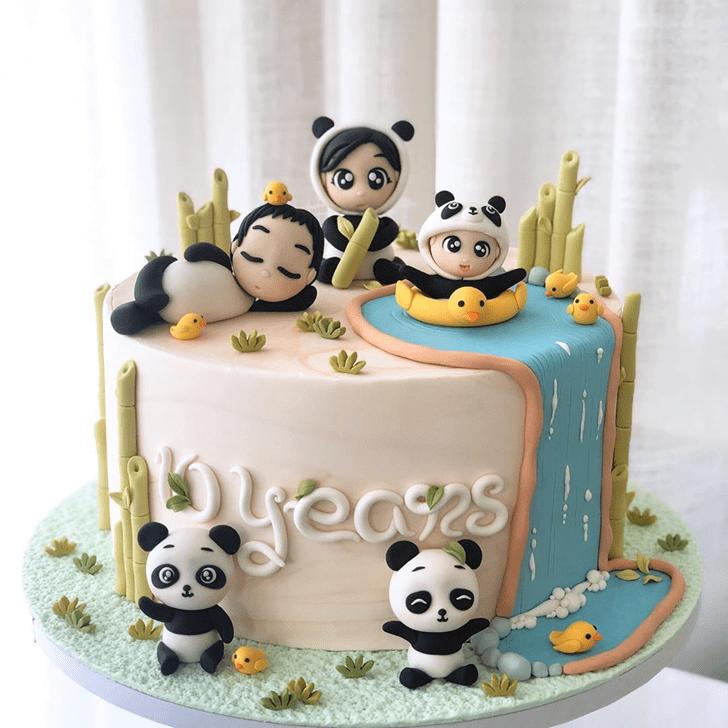 Appealing Panda Cake