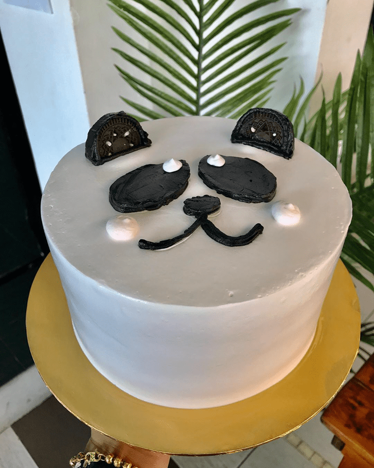 Shapely Panda Cake