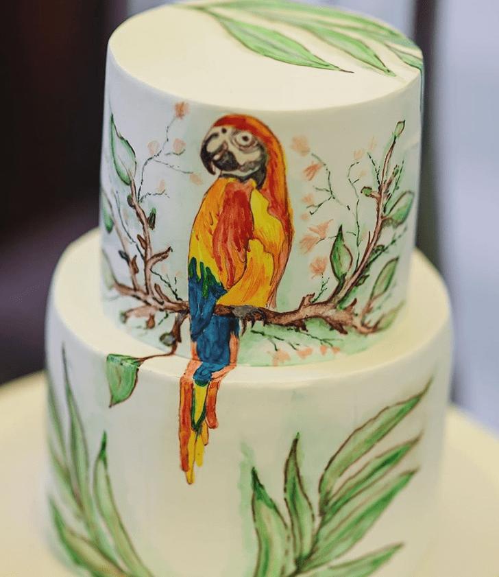 Adorable Parrot Cake