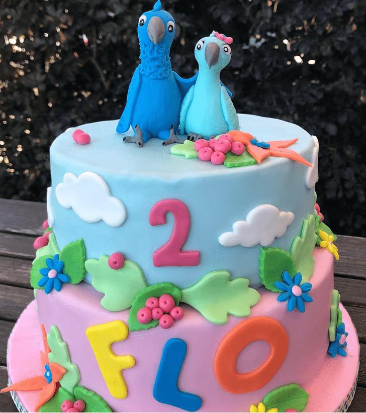 Alluring Parrot Cake