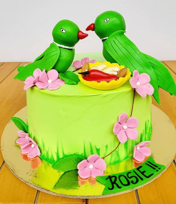 Cute Parrot Cake