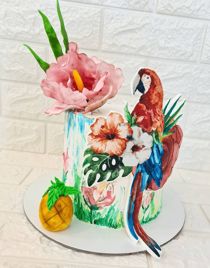 Inviting Parrot Cake